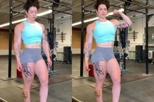 健身让女孩男性化26岁肌肉女晒出写真证实强壮可兼顾柔美
